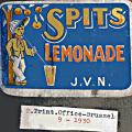 ontwerp etiket Spits 1930