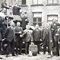 Familie Vanneste met enkele werknemers 1928