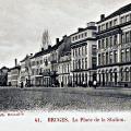 Statieplaats 1900,midden links barokke poortje van De Gapaert