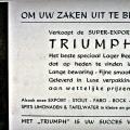 Reclamebord Triumph pils 1938