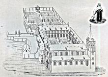 Karmelietenklooster / pentekening uit 1796