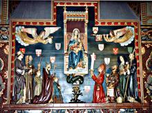 Retabel met West-Vlaamse heiligen 1908