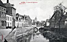 Speelmansrei 1900 rechts brouwerijgebouwen