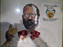 Prof. Arnoldus Goedbier / aquarel van Kris Herteleer