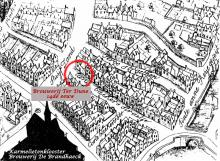Situering op kaart Marcus Gerards