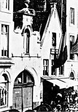 Uitgang De Gapaert 1900 Statieplaats (nu 't Zand)